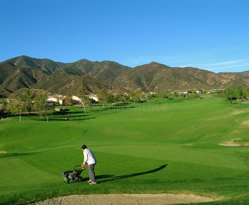 Golf Course Groundskeeper royalty free stock photo