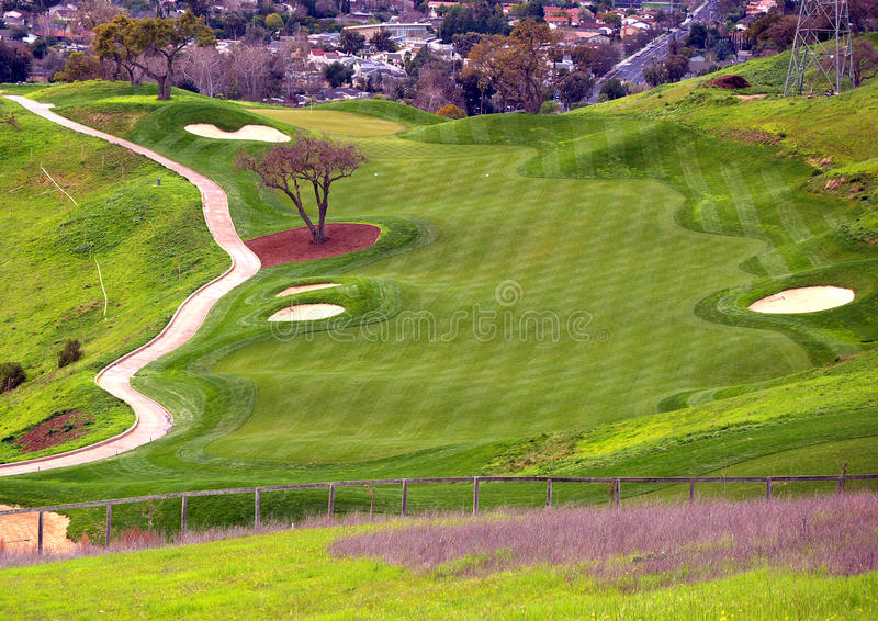 Golf Course On The Hill Royalty Free Stock Images