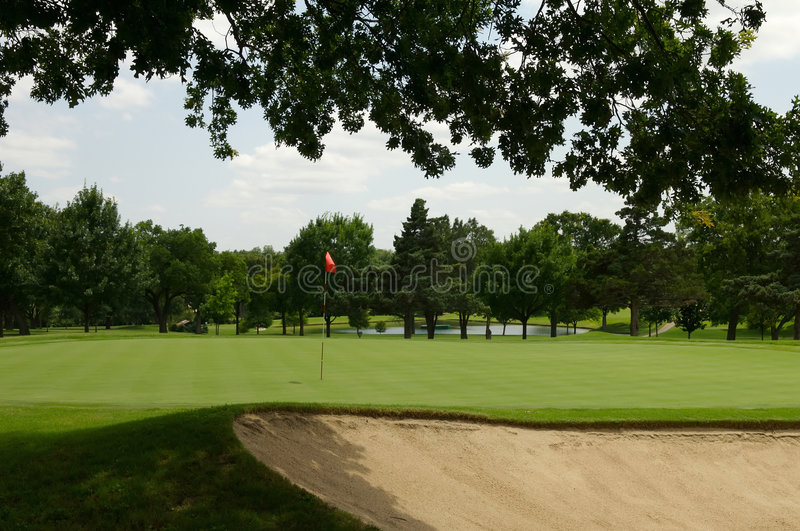 Golf course hole stock photography