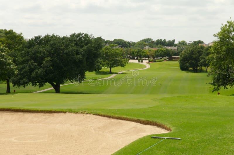 Golf course hole stock image