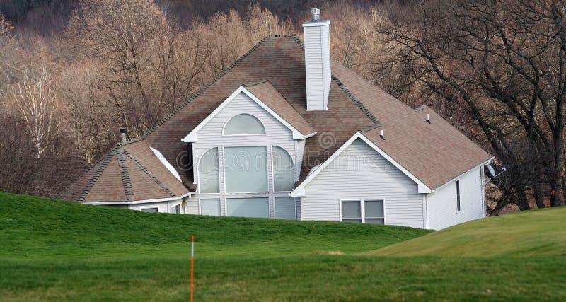 Golf course house stock photo