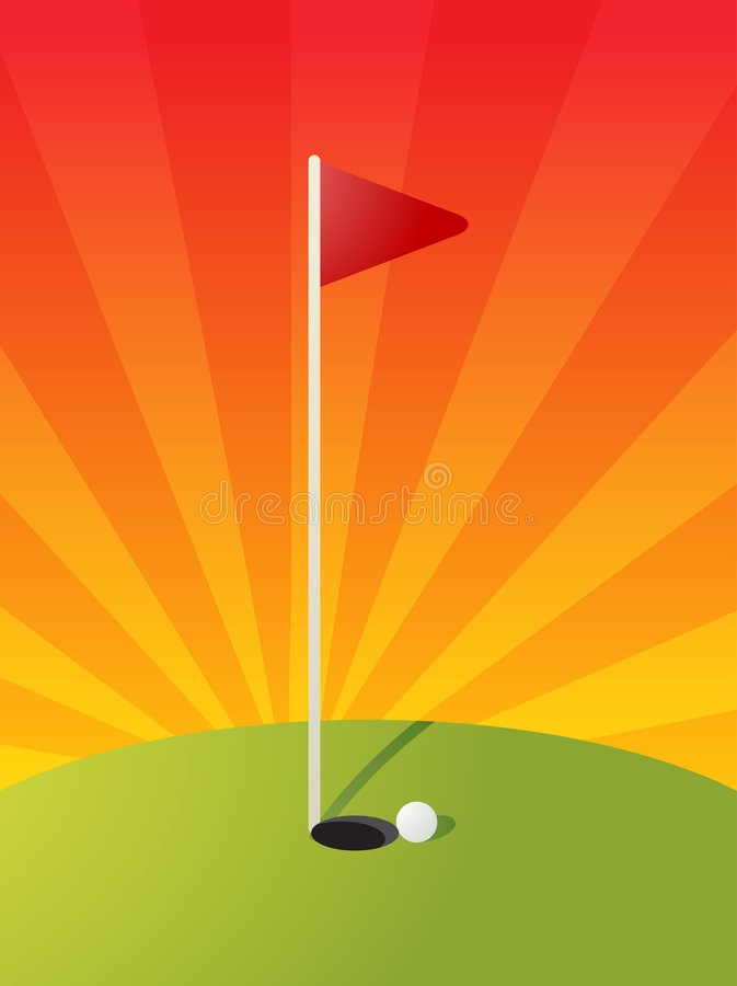 Download Golf course illustration stock vector. Image of ball, course - 9341910