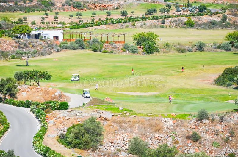 Golf Course on the island of Crete stock photography