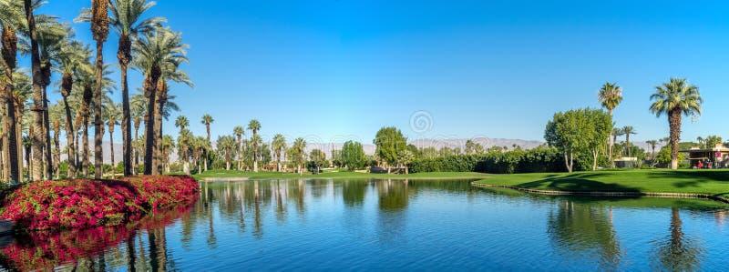 Golf course, JW Marriott Desert Springs stock photo