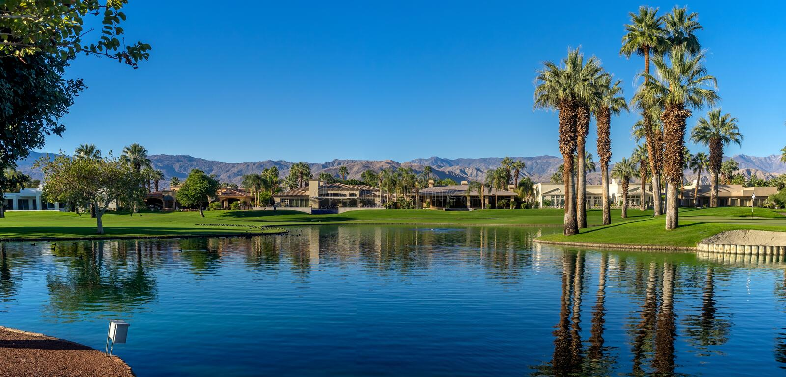 Golf course at the JW Marriott Desert Springs Resort & Spa stock images
