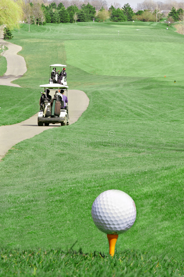 Golf Course Overview stock photography