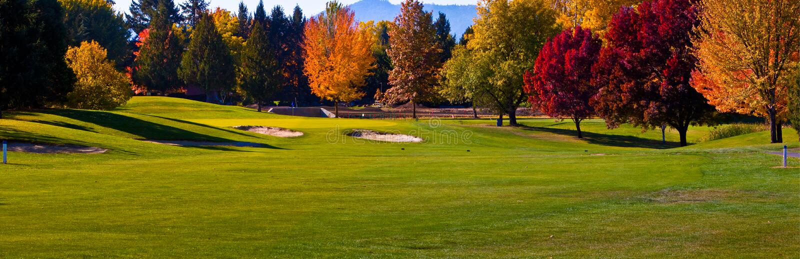 Golf Course Pano stock image