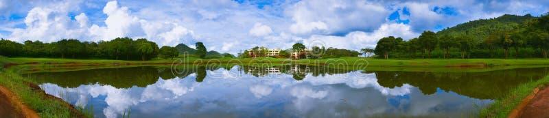 Golf Course Panorama stock photos