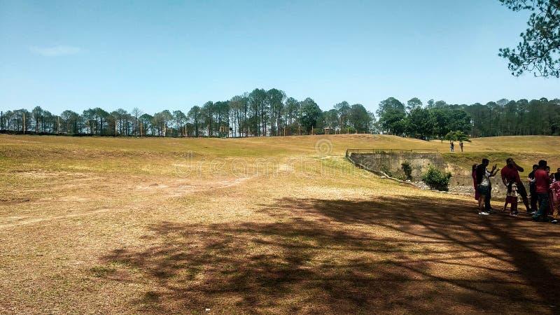 Golf Course in Ranikhet, Uttarakhand stock images