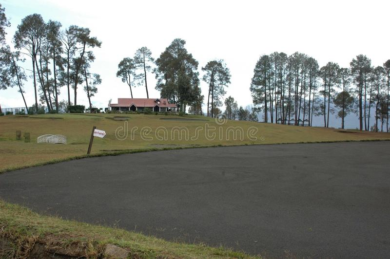 The Golf Course of Ranikhet, Uttarakhand, India. Ranikhet is a hill station and cantonment town in Almora district in the Indian state of Uttarakhand royalty free stock photos