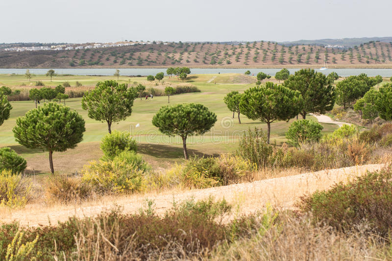 Golf course in Spain stock photo