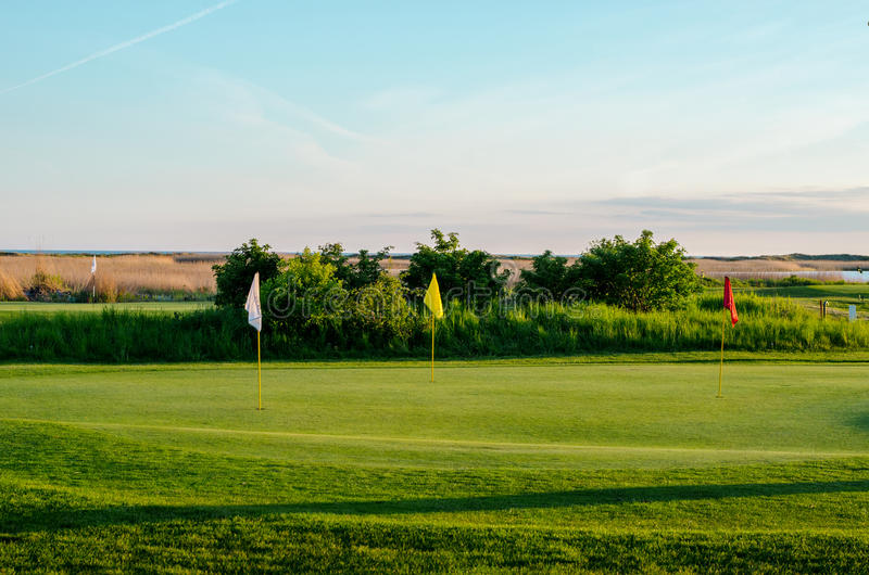 Download Golf course in sunset stock photo. Image of green, dawn - 40714124