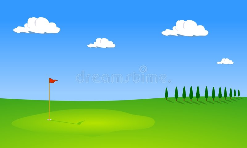 Download Golf Course With Trees Stock Photos - Image: 3578643