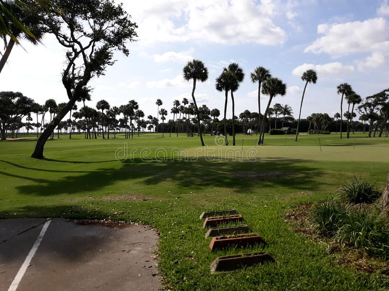 Golf Course In Vero Beach Florida royalty free stock photo