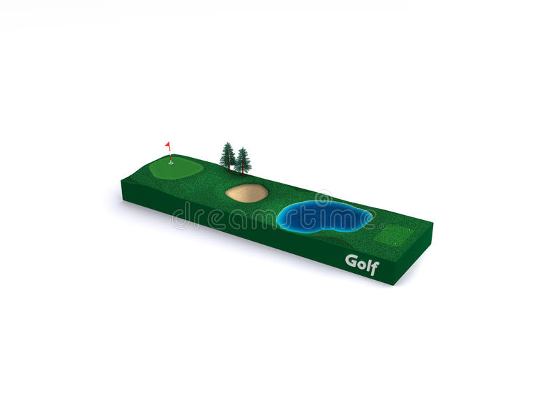 Golf Court Icon Royalty Free Stock Images