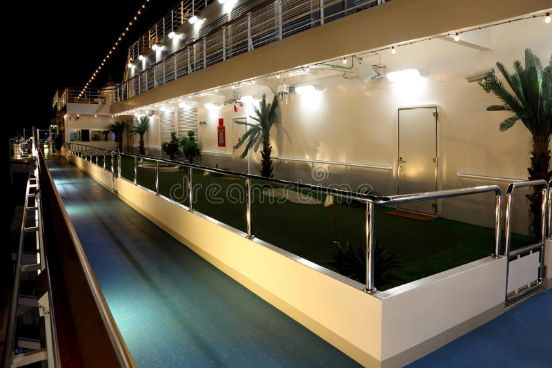 Golf court on cruise ship Costa Deliziosa royalty free stock images