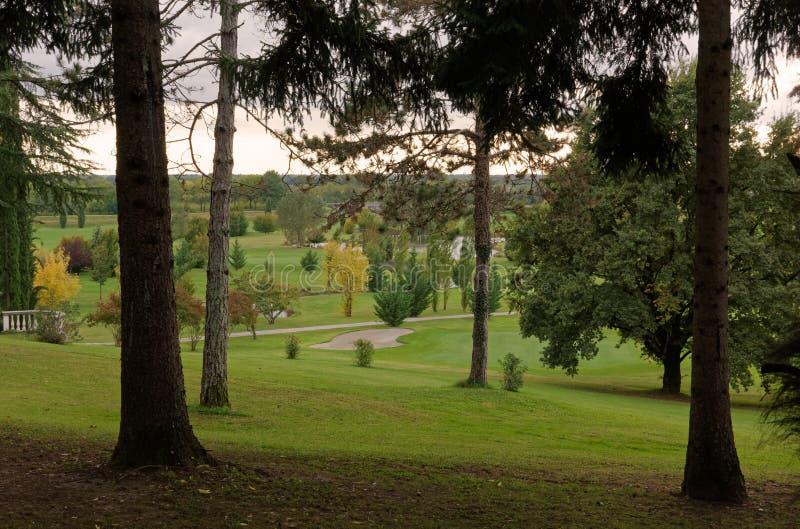 Golf Couse en otoño foto de archivo libre de regalías