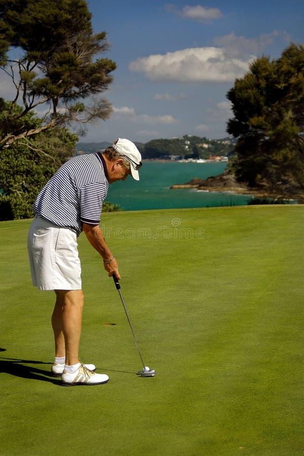 Golf - de Afwerking stock foto's