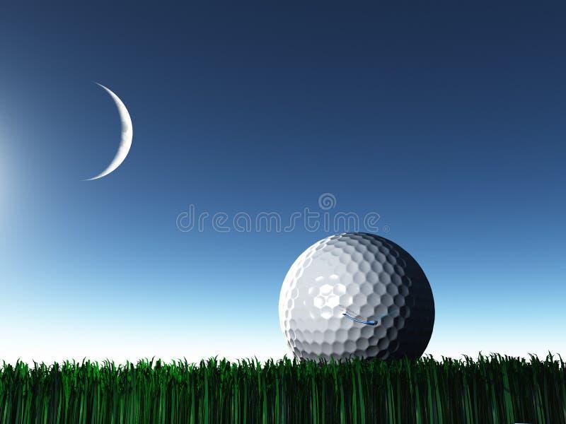 Golf de la noche stock de ilustración