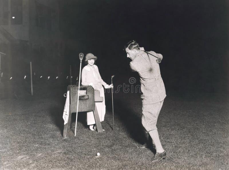 Golf de la noche fotografía de archivo