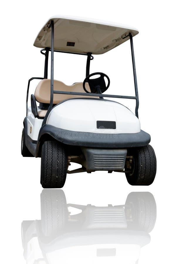 Golf del coche en el fondo blanco foto de archivo