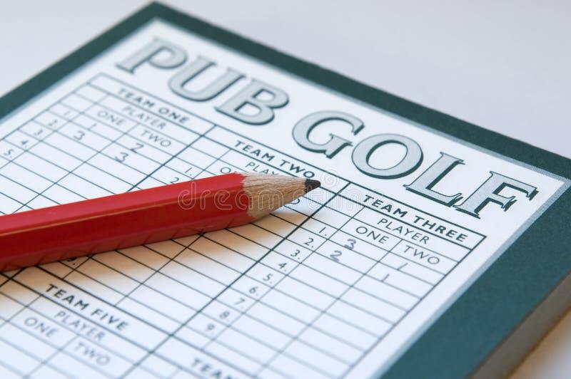 Golf del Pub immagine stock