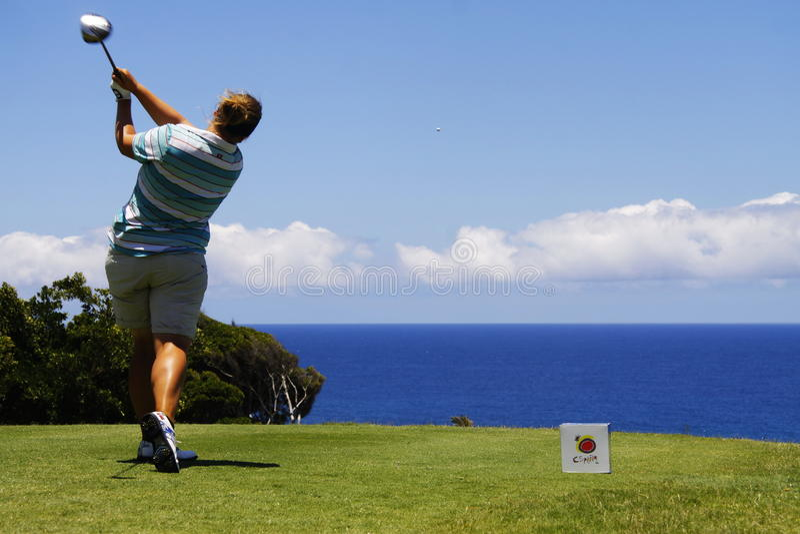 Golf delle signore di Tenerife aperto fotografie stock libere da diritti