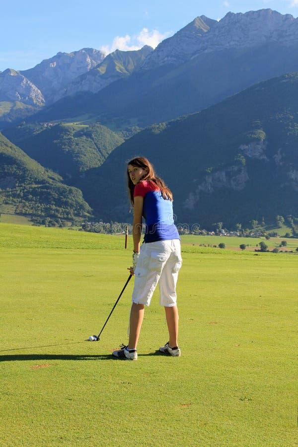 Golf der großen Höhe stockfotos