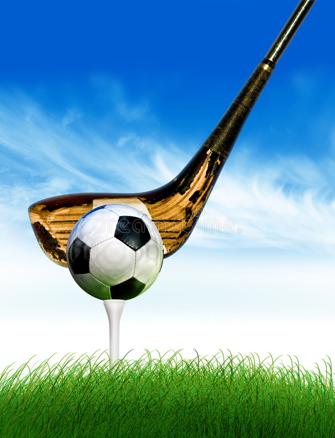 Golf di gioco del calcio illustrazione vettoriale