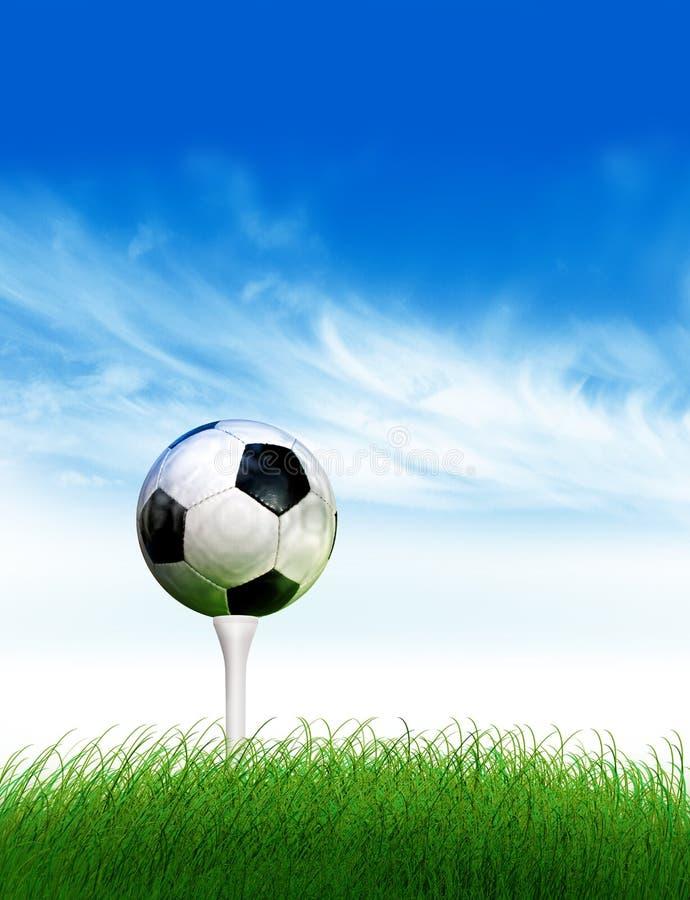 Golf di gioco del calcio illustrazione di stock