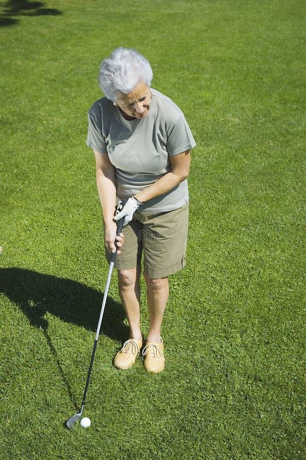 Golf di pratica fotografie stock