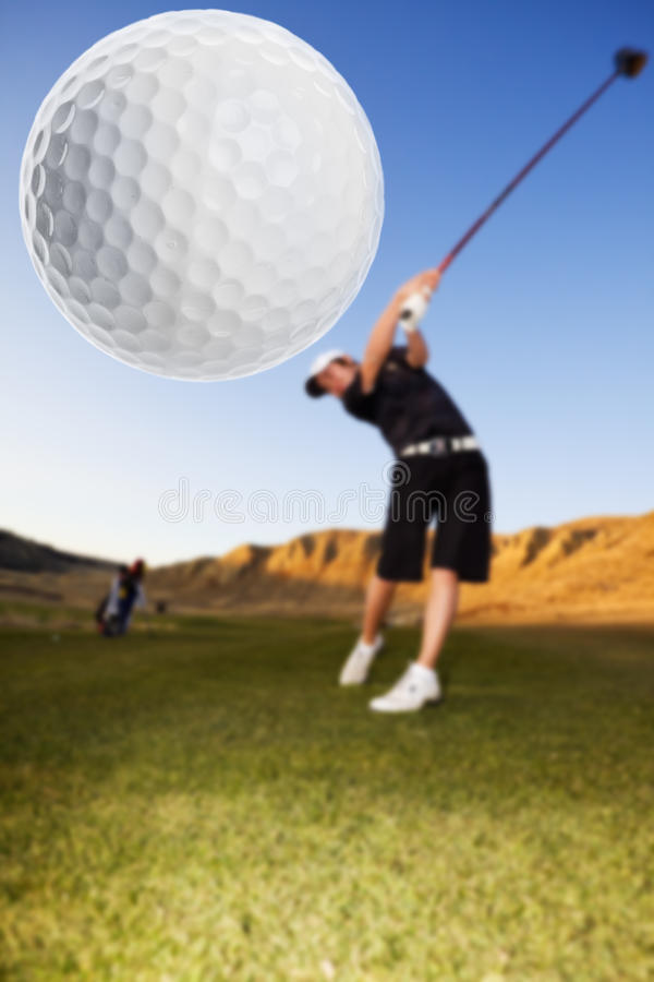 Golf Drive Stock Photo