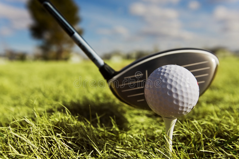 Golf drive royalty free stock photos