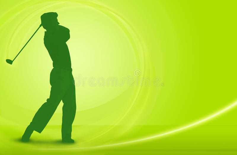 Golf - drive off tee design stock illustration