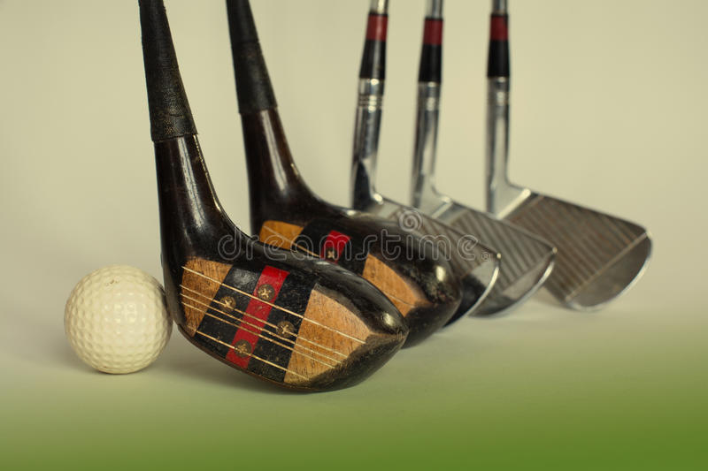 Golf drivers and ball. toned photo royalty free stock photo