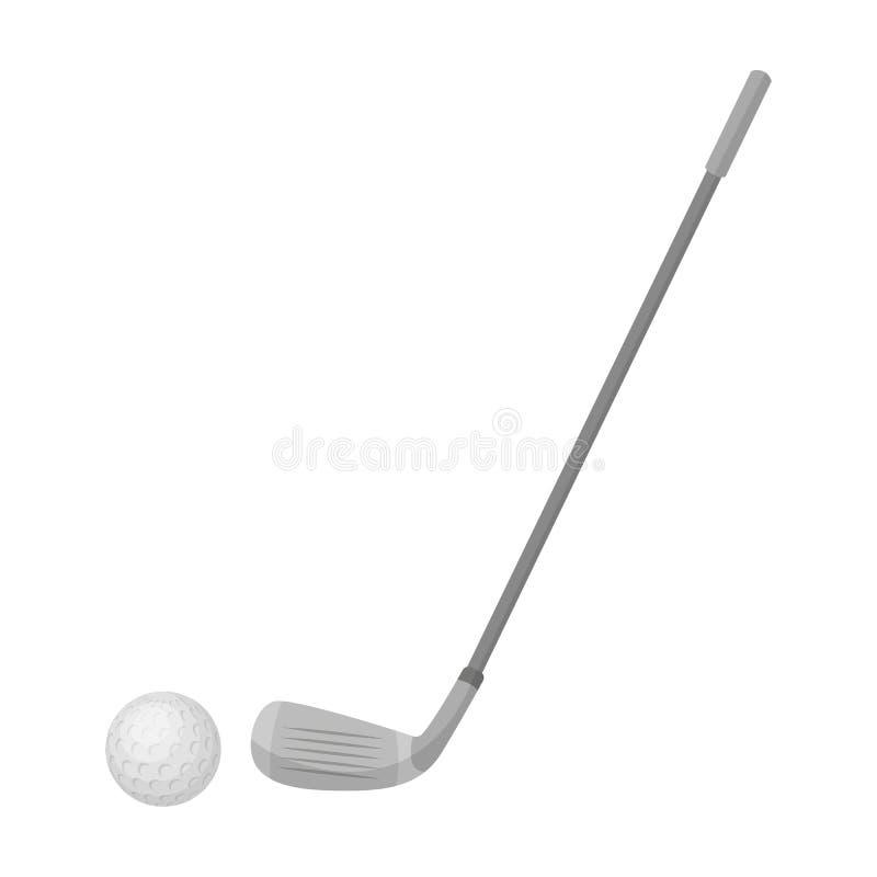 Golf el icono en estilo de la historieta aislado en el fondo blanco Símbolo del país de Escocia stock de ilustración