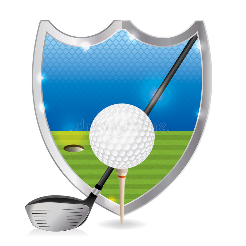 Golf-Emblem-Illustration stock abbildung