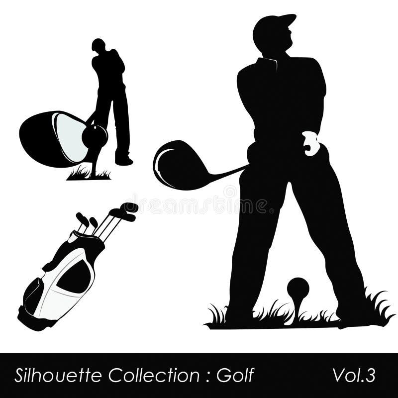 Golf en golfspelers royalty-vrije illustratie