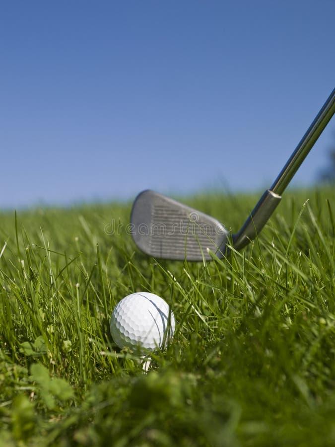 Golf en hierba verde foto de archivo libre de regalías