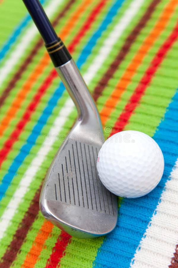 Golf equipment. For playing in holiday royalty free stock images