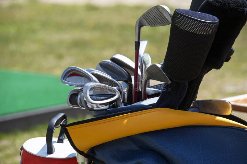 Golf equipment. A detail of a golf equipment royalty free stock photos