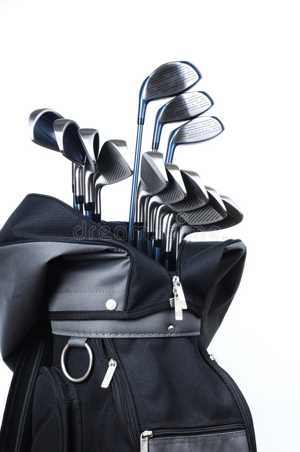 Golf Equipments. Isolated white background stock images