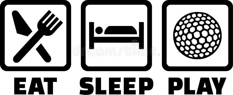 Golf essen Schlaf-Spiel lizenzfreie abbildung