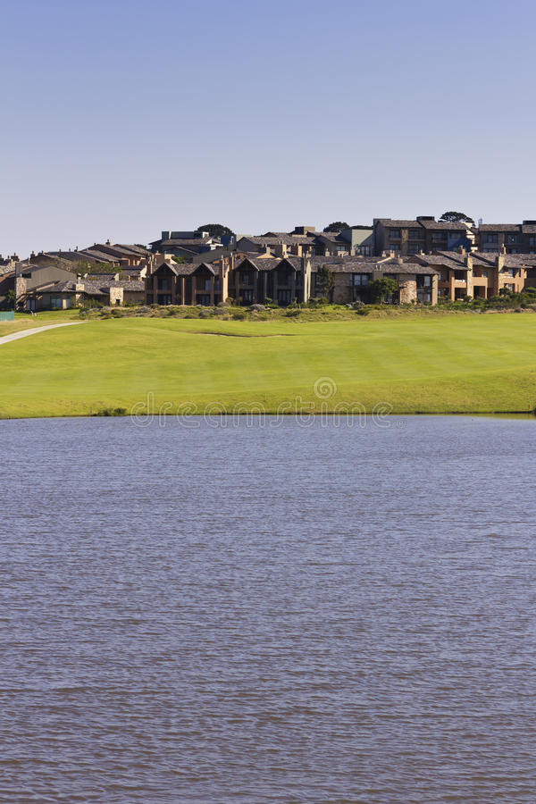 Download Golf Estate With Large Dam And Houses Stock Photo - Image: 32932392