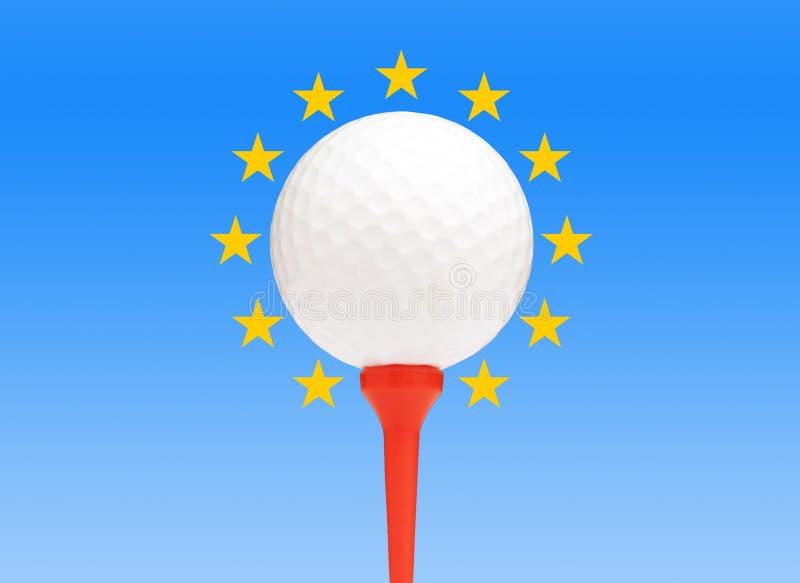 Golf européen illustration stock