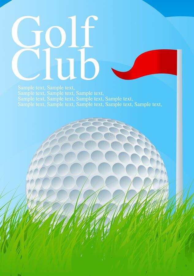 golf för 2 boll vektor illustrationer