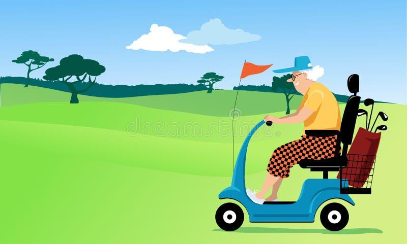 Golf för pensionärer royaltyfri illustrationer