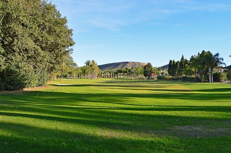 A Golf Fairway A Very Green Golf Course stock photos
