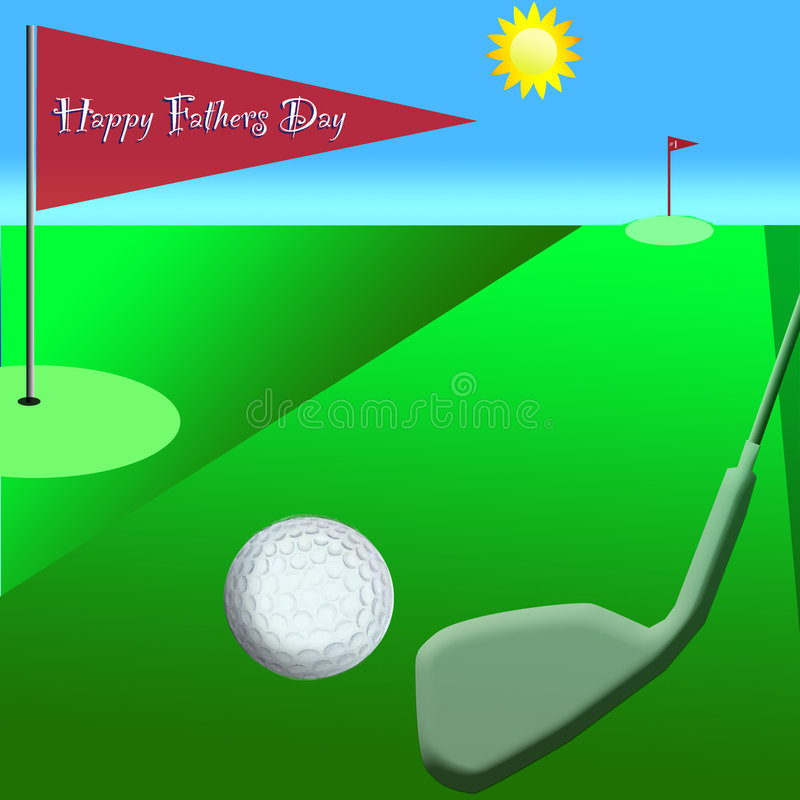 Download Golf on Fathers Day stock image. Image of hole, greeting - 5197289