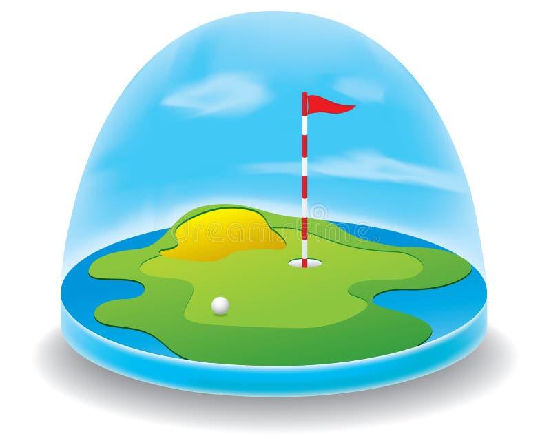 Download Golf field stock vector. Illustration of flag, recreation - 24108524
